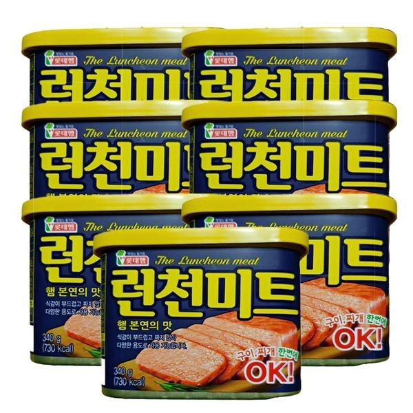 런천미트340gx7개 초특가 무료배송/스팸/로스팜/리챔