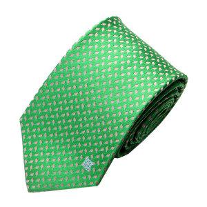 (현대백화점)루이까또즈넥타이 (LW503 AL04)미니나뭇잎 파스텔 초록타이