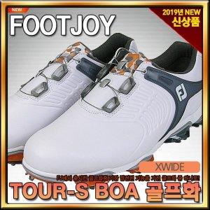 풋조이  2019년 TOUR-S BOA 골프화 남성  55312  화이트/그레이  XWI