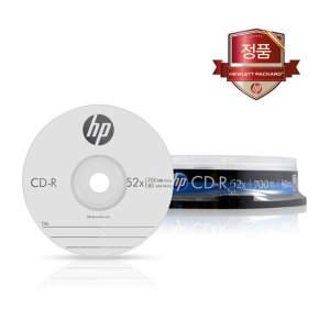 HP CD-R 700MB 10장케이크/공CD/공시디/공DVD/케이스