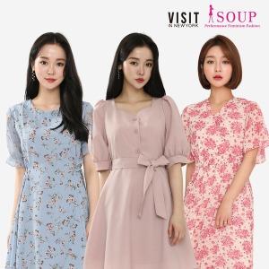 SOUP/비지트인뉴욕 신상 원피스블라우스