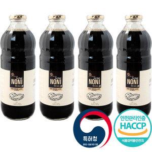 노니 발효 주스 액 1L x4 허니트리 퓨어로얄 야생노니