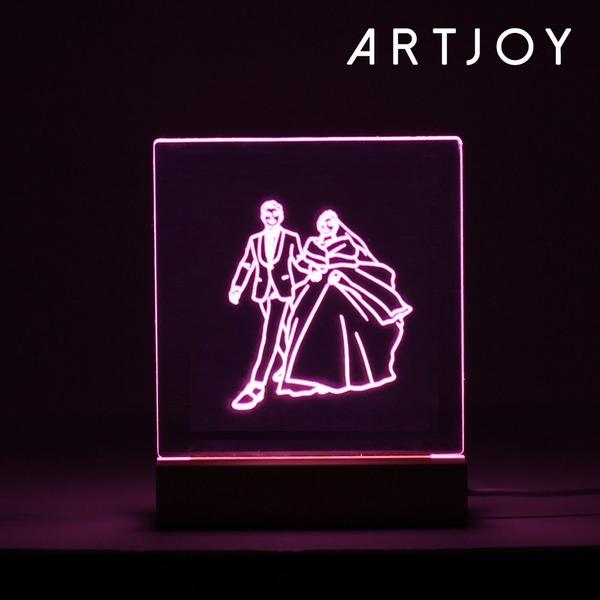 아트조이 DIY 아크릴 LED 셀프무드등 15cm (핑크)