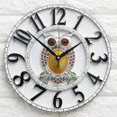인테리어벽시계 큐트부엉이(중)-화이트/무소음시계