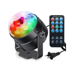 휴대용 파티용 LED 미러볼 라이트 조명 7가지 패턴