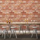 벽돌 타일 데코 시트지 리얼브릭 브라운 HWP-632
