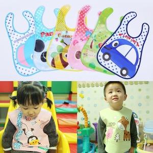 이유식턱받이/아기 순면/방수/유아/앞치마/유아용품