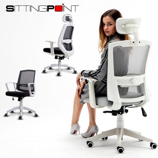 시팅포인트 사무용 메쉬 컴퓨터의자 책상의자