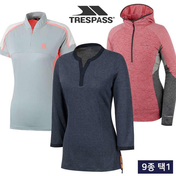(현대Hmall) 트레스패스  여름 흡한속건/냉감 여성 티셔츠/집업 자켓 균일가 9종 택1/골프웨어_245022
