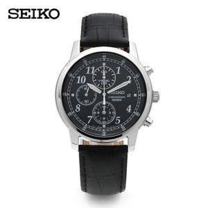 세이코 SEIKO  SNDC33P1 / 크로노그래프 남성 가죽시계 40mm