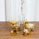 복스러운 금전운 황금 코끼리 장식 풍수인테리어 소품