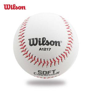 윌슨 야구공 A1217 SCB17 소프트볼 안전구 연식구 1입