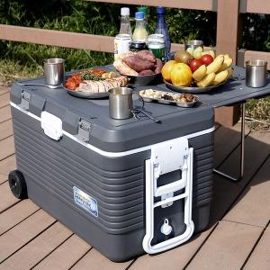 코스모스 70리터 테이블 바퀴형 아이스박스 WJ-970T