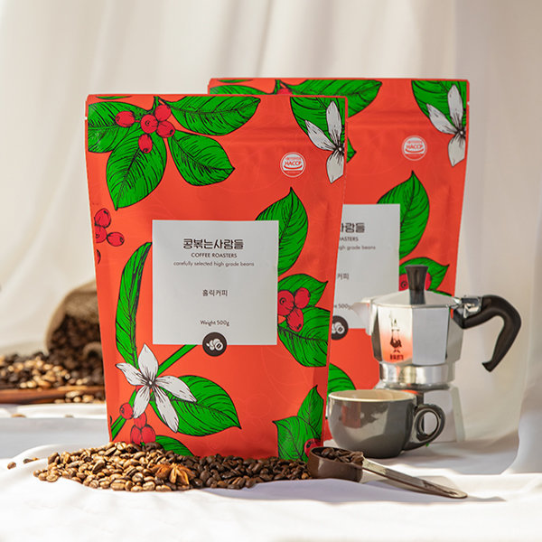 원두 커피 500g+500g무배/당일로스팅/갓볶은 홀릭커피