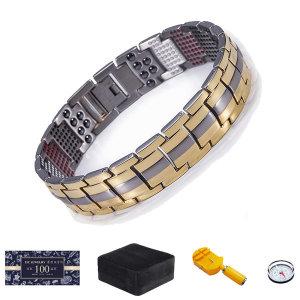 21C 정품 게르마늄 티타늄팔찌 건강팔찌 게르마늄원석