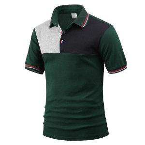 남성 여름 반팔 카라티 하프배색 티셔츠 tc1303