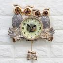 인테리어벽시계 커플부엉이-실버/디자인시계 결혼선물