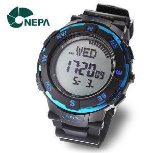 네파 NEPA 전자 나침반 방위계 아웃도어 군인시계 N233-BLUE