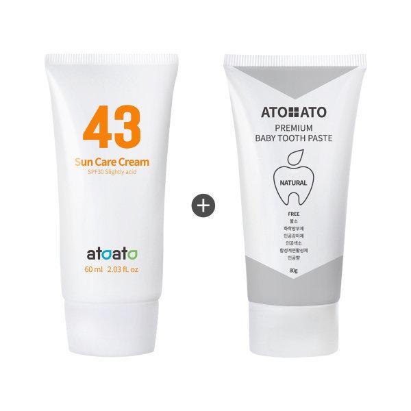 (아토아토ATOATO) 편백수 43% 약산성썬크림 60ml + 프리미엄 베이비치약