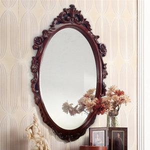 수입엔틱 장미 거울