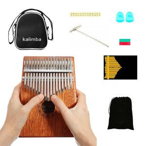 칼림바 17음 마호가니 원목 엄지손가락 피아노 풀셋트