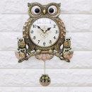 인테리어벽시계 리치부엉이-골드/무소음시계 개업선물