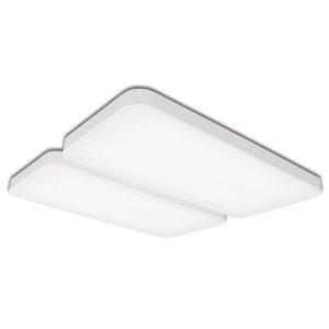 LED 무타공 시스템 거실등 화이트 100W LED거실등 조명