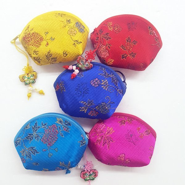 전통 동전지갑 둥근 누비 5개 세트 부모님동전지갑