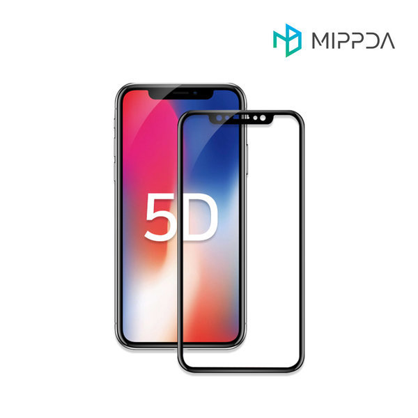1+1 5D 아이폰 풀커버 강화유리 필름 아이폰X/XS 블랙