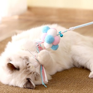 고양이 폼폼이 낚시대 장난감