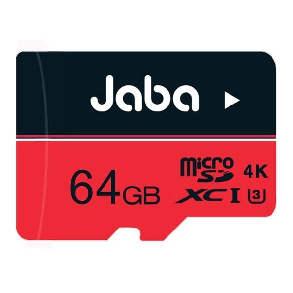 JABA MicroSDXC 64GB U3 4K 레드 메모리카드