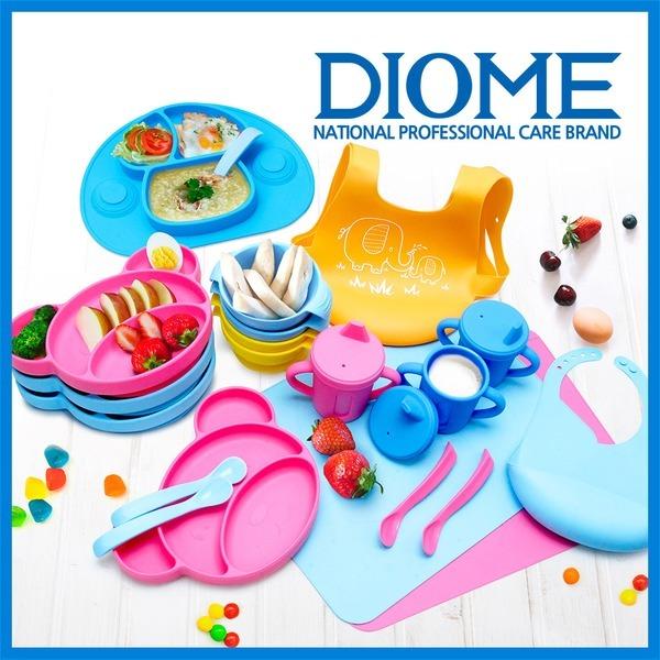 DIOME 실리콘 유아 식기 모음전 흡착식판