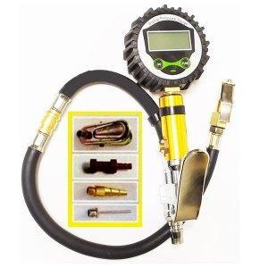 디지털 타이어게이지 에어 공기주입기 자전거 튜브 공