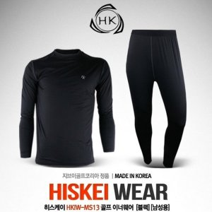 히스케이 HKIW-MS13 이너웨어 세트  블랙  남성용