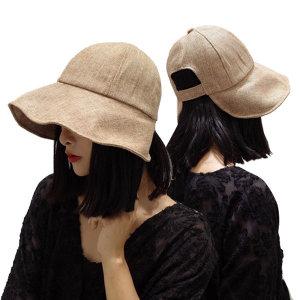 여름 벙거지 모자 린넨 버킷 햇 보넷벙거지