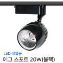 레일조명/LED/레일등/에그 스포트 20W(블랙)-전구색