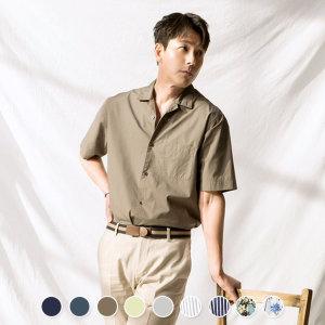 지오다노  049525 오픈카라 반팔 셔츠
