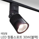 레일조명/레일등/레일형 원통스포트 30W(블랙)-전구색