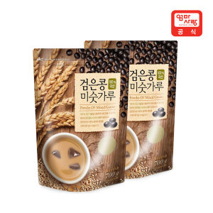 국산 검은콩 미숫가루 700g X 2개 /식사대용/블랙선식 - 상품 이미지