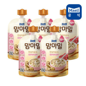 맘마밀 표고버섯과소고기 100g 5팩 (12개월)/이유식