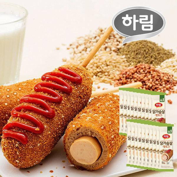 하림 닭가슴살 핫도그 90g 20봉