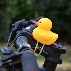 자전거 킥보드 유모차 러버덕 오리 라이트 벨