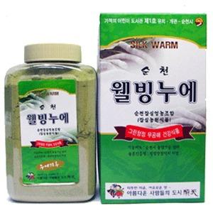 순천잠실영농조합법인/100%동결(냉동)누에분말500g/환