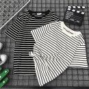 2019신상 줄무늬 여름반팔 티셔츠 빠른직구 무료배송