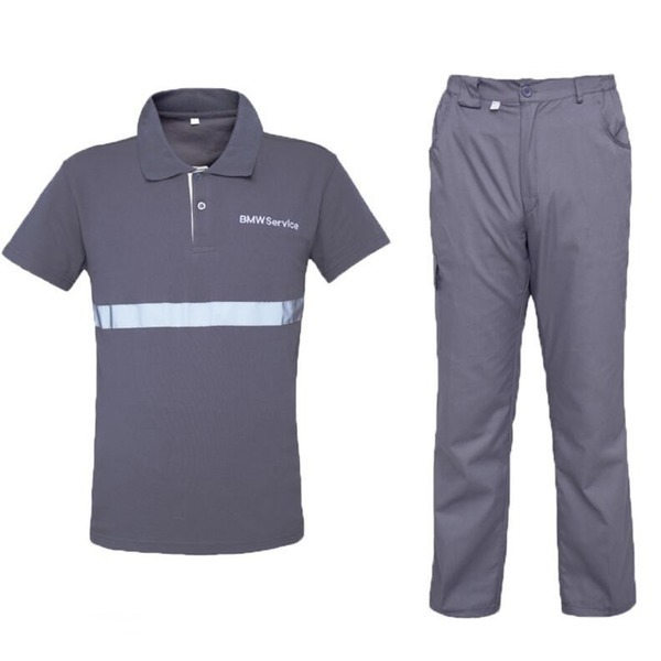 작업복HT3 여름 바이크 반팔 티셔츠 바지 정비복 세트