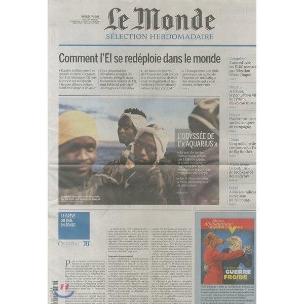 Le Monde Selection (주간) : 2018년 06월 23일  LE MONDE SELECTION
