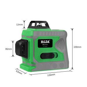 HILDA 12선 3D 레이저 레벨기 그린레이저