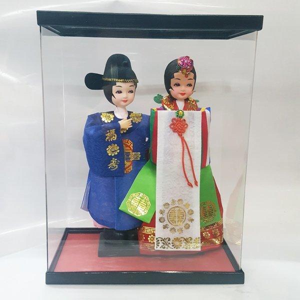 남녀 한복 세트 신랑신부 + 아크릴박스 한국기념품
