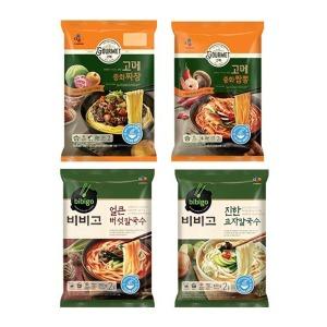 CJ 고메 중화짜장+중화짬뽕+비비고 얼큰버섯칼국수+진한교자칼국