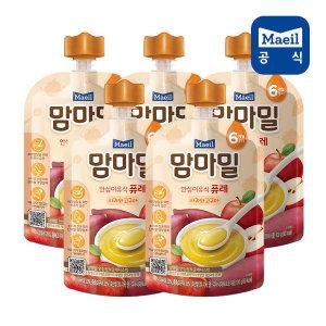 맘마밀 퓨레 사과와고구마 100g 5팩 (6개월)/이유식